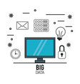 big data technology vector image vector image