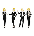 Business Woman Color Full Body Blonde vector image vector image