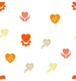 Cardiology Seamless Flat Pattern vector image vector image
