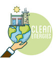 clean and green energies vector image