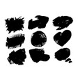 collection artistic grungy black paint hand vector image