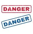 Danger Rubber Stamps vector image vector image