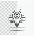 development idea bulb pencil scale line icon on vector image vector image