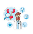doctor stethoscope with mens healthy treatment vector image