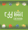 easter hunt card vector image vector image