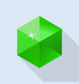 emerald stone icon flat style vector image