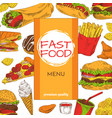 fast food menu premium quality vector image