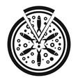 fish tomato pizza icon simple style vector image vector image