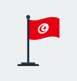 flag of tunisiaflag stand vector image