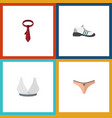 flat icon dress set of brasserie sneakers vector image vector image
