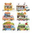 food truck street food-truck vehicle and vector image vector image