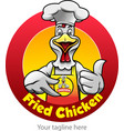 fried chicken symbol vector image vector image