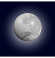 Full moon seen with a telescope Luna flat icon vector image vector image