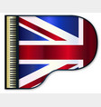 grand piano united kingdom flag vector image vector image