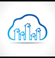 Group of up homes in the cloud vector image vector image
