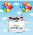 happy childrens day template vector image
