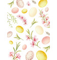 happy easter watercolor hand painted vector image