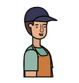 man gardener with apron avatar character vector image