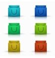 modern shooping bag icons set vector image vector image