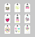 mothers day holiday cards set tag shape isolated vector image vector image