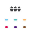 of food symbol on eggs icon vector image