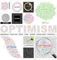OPTIMISM vector image