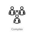 outline complex icon isolated black simple line vector image vector image