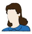 portrait woman female avatar image vector image