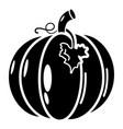 pumpkin icon simple black style vector image vector image