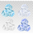 realistic ice cubes on a transparent background vector image
