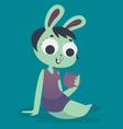 Relaxing Bunny Girl Holding a Mug vector image vector image