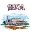 roman coliseum sight in rome italy vector image