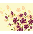 Rose flower on yellow background vector image vector image