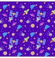 Seamless Space Doodle vector image