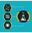 Set icons chemical experiments eps vector image