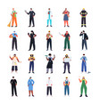 set mix race people different occupations vector image vector image
