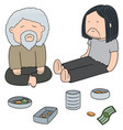 set of beggar vector image