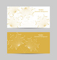 set of horizontal banners abstract maple vector image vector image