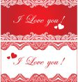 set of romantic background vector image vector image
