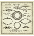 set vintage elements vector image