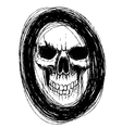 skull in circle vector image vector image