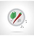 Spicy menu flat color icon vector image vector image