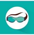 sport glasses winter accessory vector image