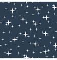 Starry night sky seamless pattern vector image