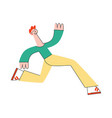 stylized man running with smile at face vector image