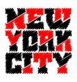 T shirt typography graphics New York drawn vector image