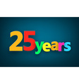 Twenty five years paper sign vector image vector image