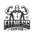 vintage fitness logo template vector image vector image