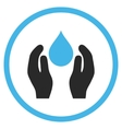 Water Care Flat Icon vector image vector image