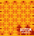 world autism day with background puzzle pieces vector image vector image